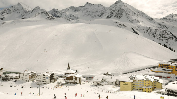 Hotels at the foot of the pistes in Kühtai