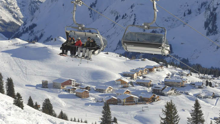 Hotels next to the chairlift in Oberlech