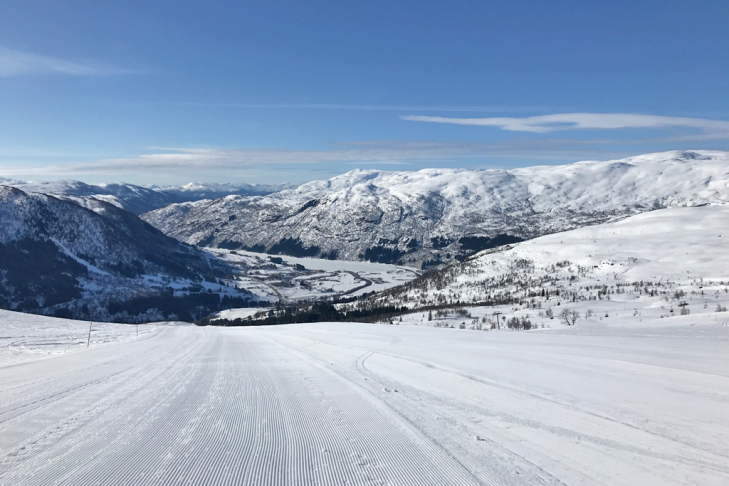 Wintersport in Myrkdalen, Noorwegen