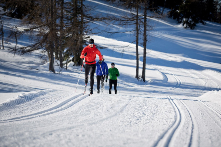 Cross-country skiing in the Pillerseetal