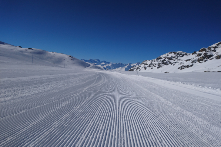First tracks at Val Thorens