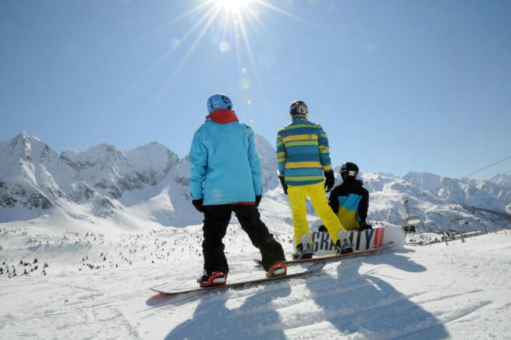 Snowboarden in Pontedilegno-Tonale in Skirama