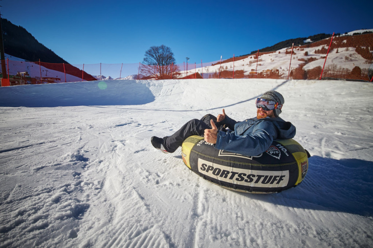 Snowtubing at Fieberbrunn