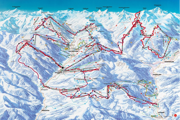 Piste map of The Challenge
