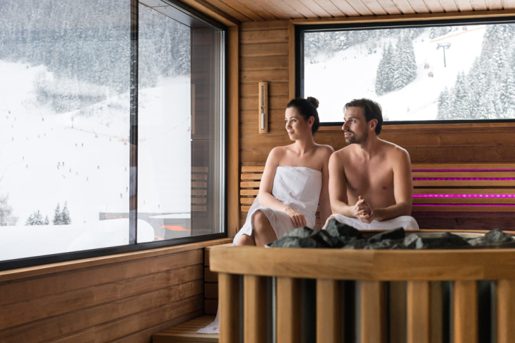 Sauna Wellness Skiurlaub Winter