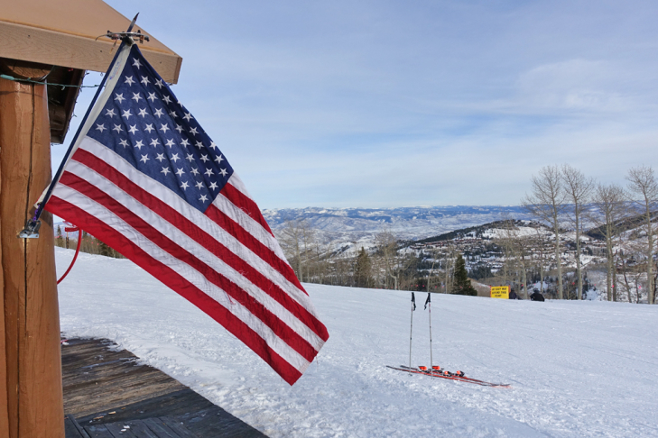 Amerikaanse vlag in Park City