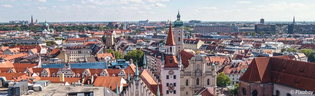 Uitzicht op München
