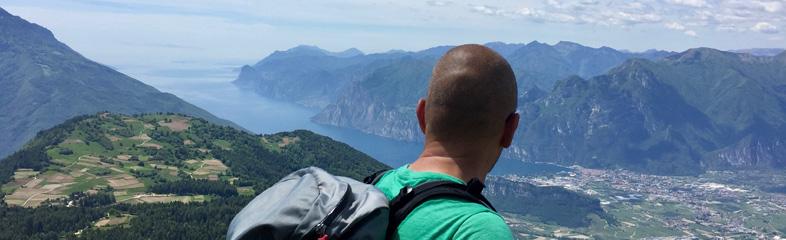 Uitzicht over het Gardameer vanaf de Monte Stivo