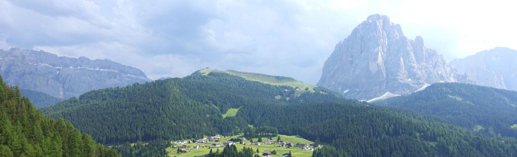 Uitzicht op de Dolomieten in Val Gardena