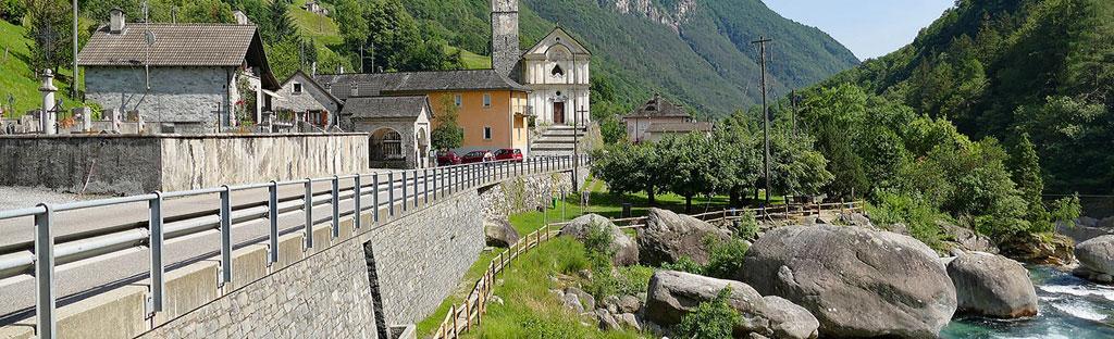 Lavertezzo en de Verzasca rivier