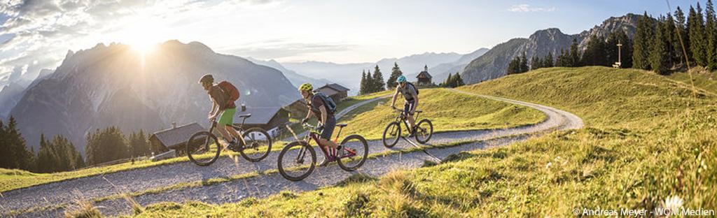 Mountainbiken op de Itonskopf in het Montafon