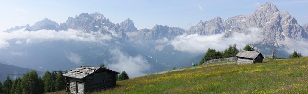 Uitzicht op de Italiaanse Alpen