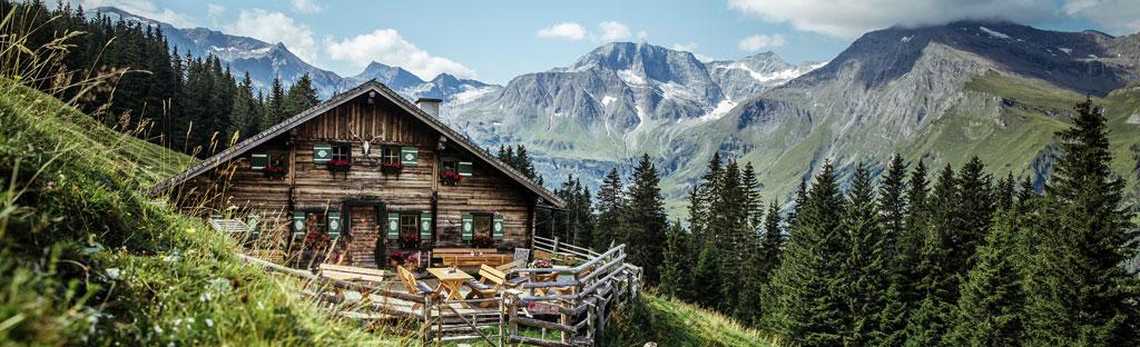 Berghut in de bergen in het Salzburgerland