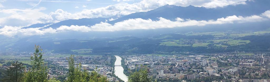 Uitzicht vanaf de Nordkette op Innsbruck