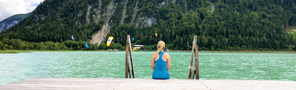 Op de steiger aan de Achensee