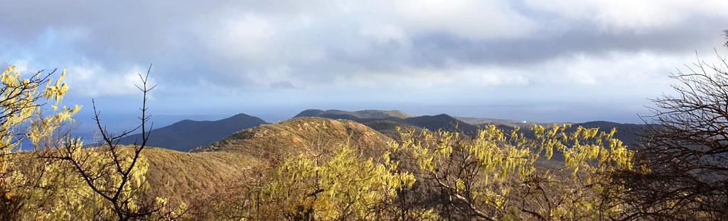 Uitzicht tijdens het beklimmen van de Christoffelberg