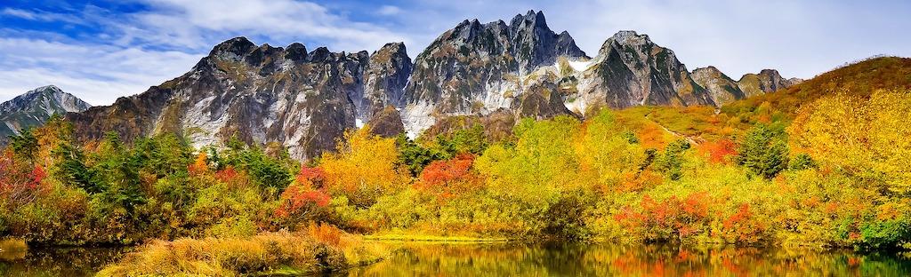 herfstkleuren in de Alpen