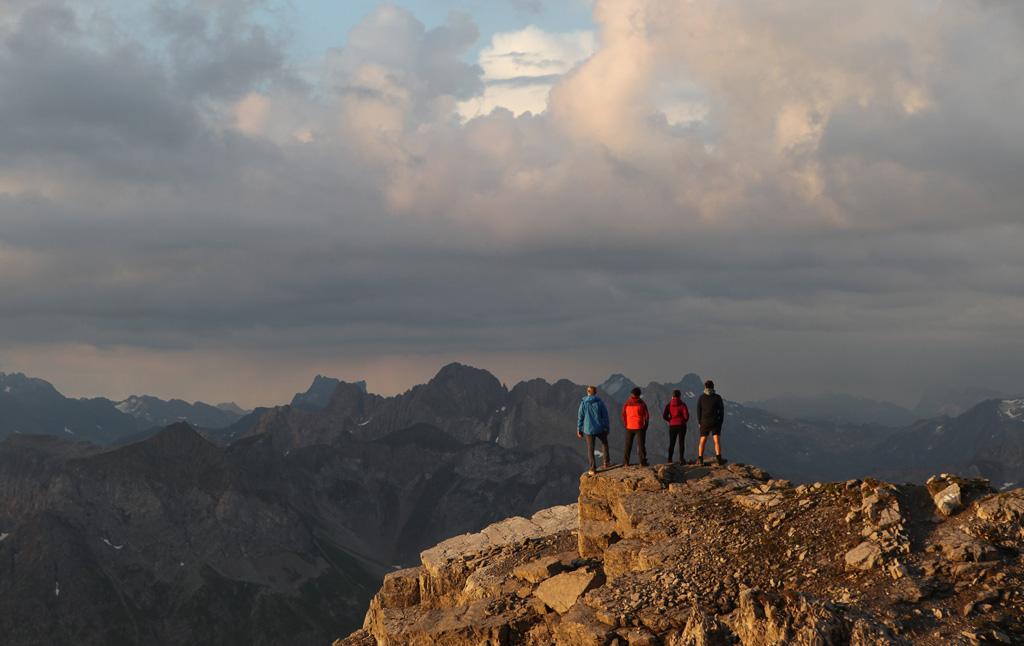 Zonsopkomst in Lech Zürs am Arlberg