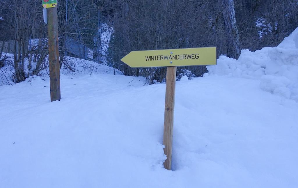 bord winterwandelweg