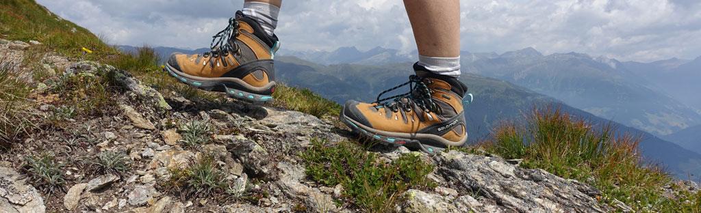 wandelschoenen op bergsportdag 2020
