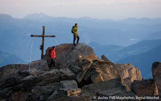 Bergtoppen boven de 3000 meter voor wandelaars