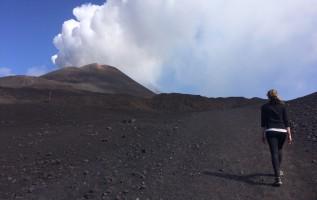 De vulkaan Etna beklimmen