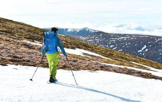 De techniek van het sneeuwschoenwandelen