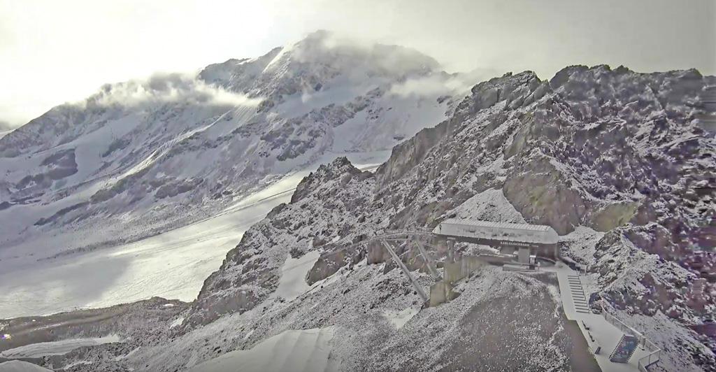 Verse sneeuw Kaunertaler Gletscher