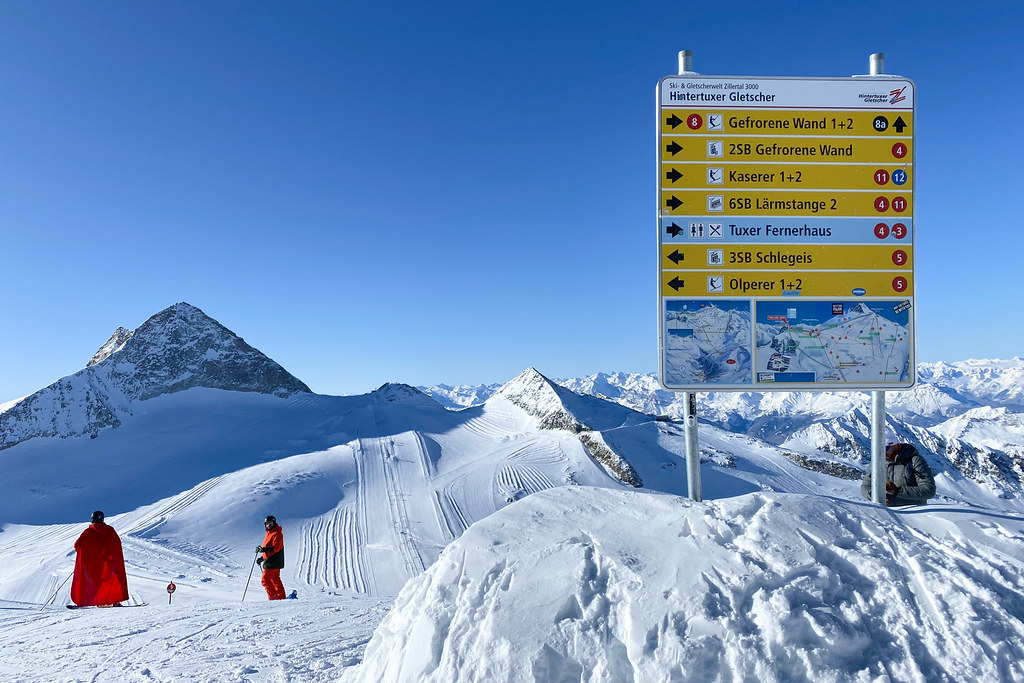 Pistebord Hintertuxer Gletscher