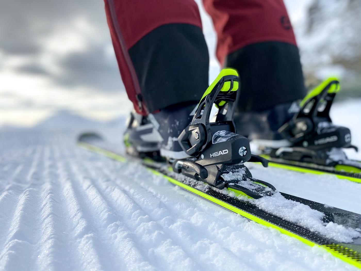Ribbels onder de ski's