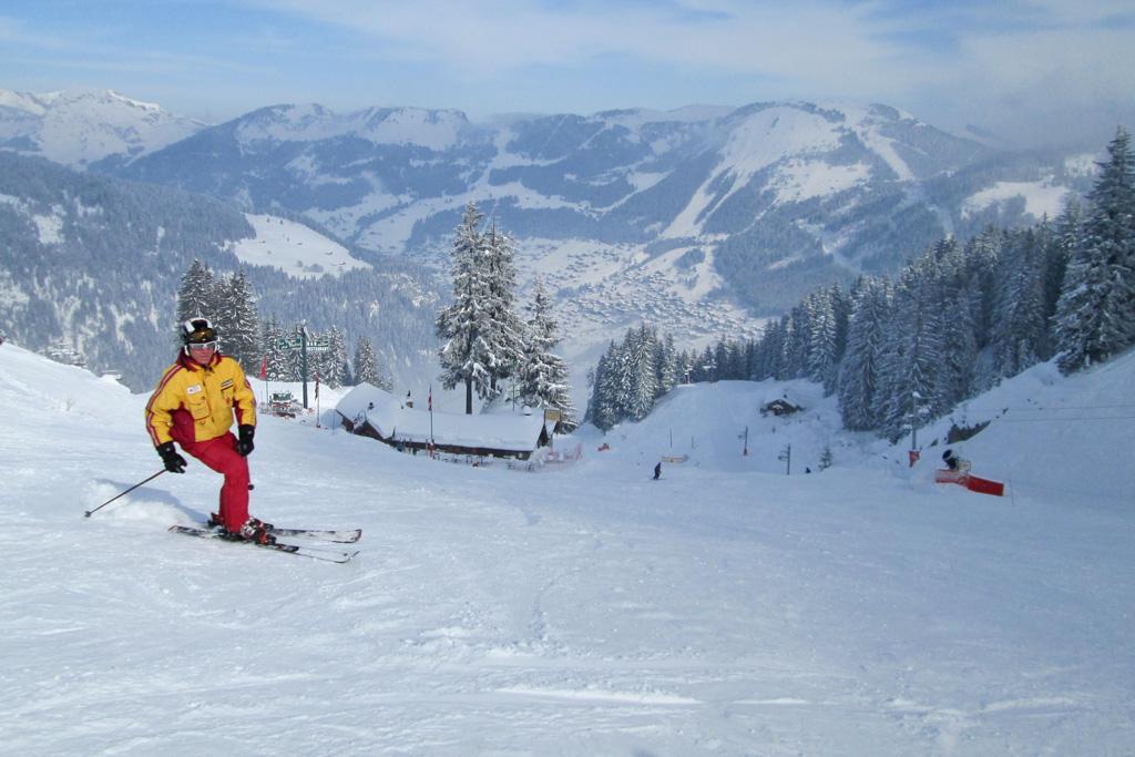 Proper skiing technique