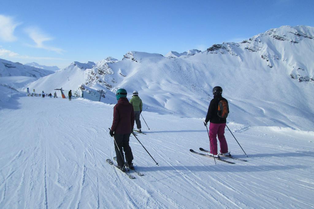 Les Portes du Soleil skieurs
