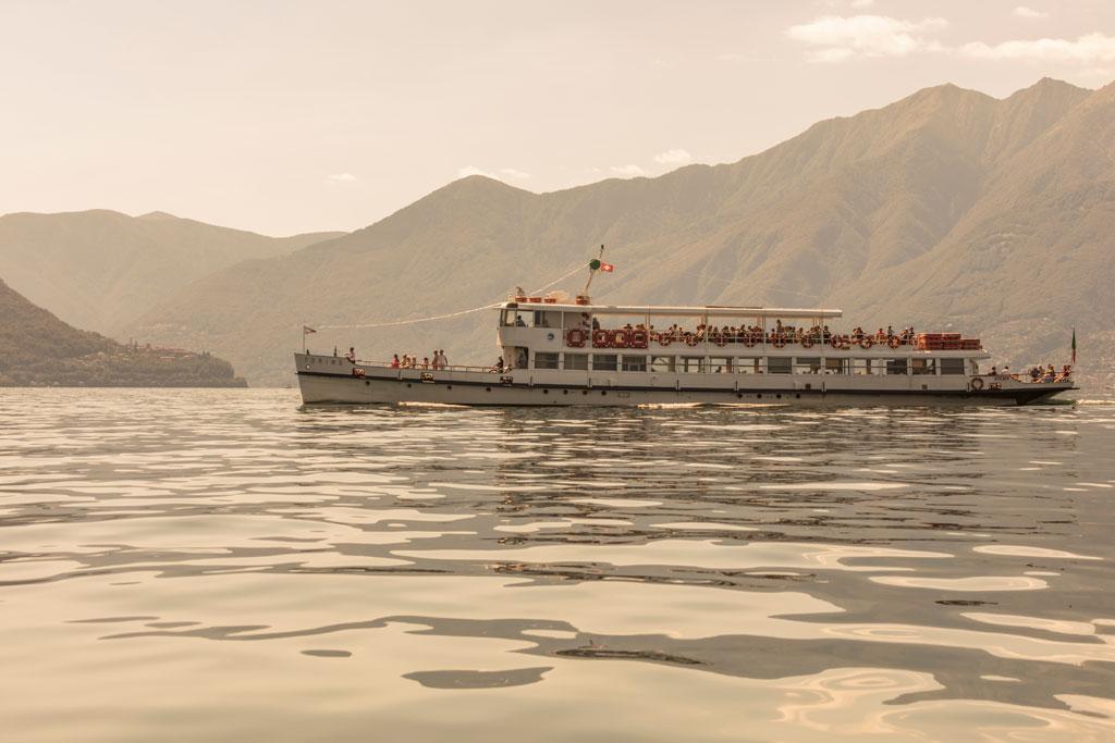 Lago Maggiore boottocht op het water