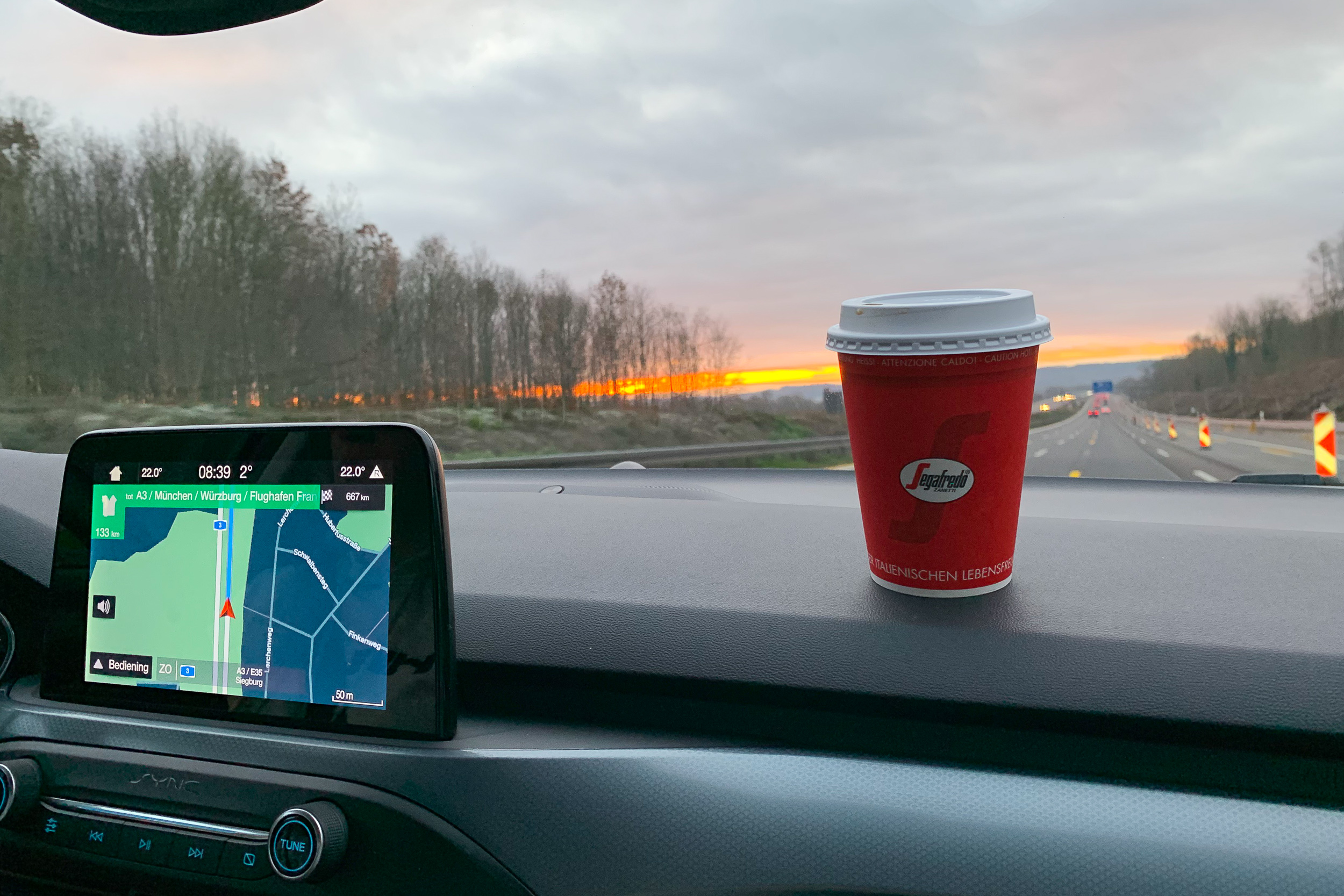Koffie langs de Autobahn