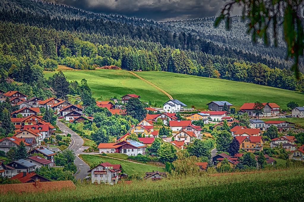 dorpje Nationaal Park Bayerischer Wald