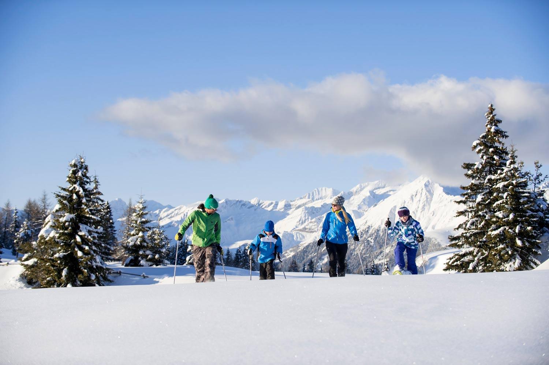 Sneeuwschoenwandelen met kinderen