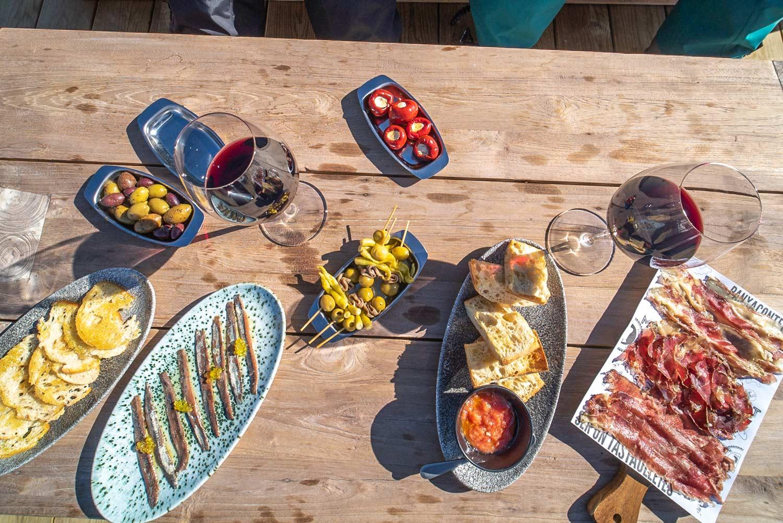 Tapas eten in het skigebied GrandValira