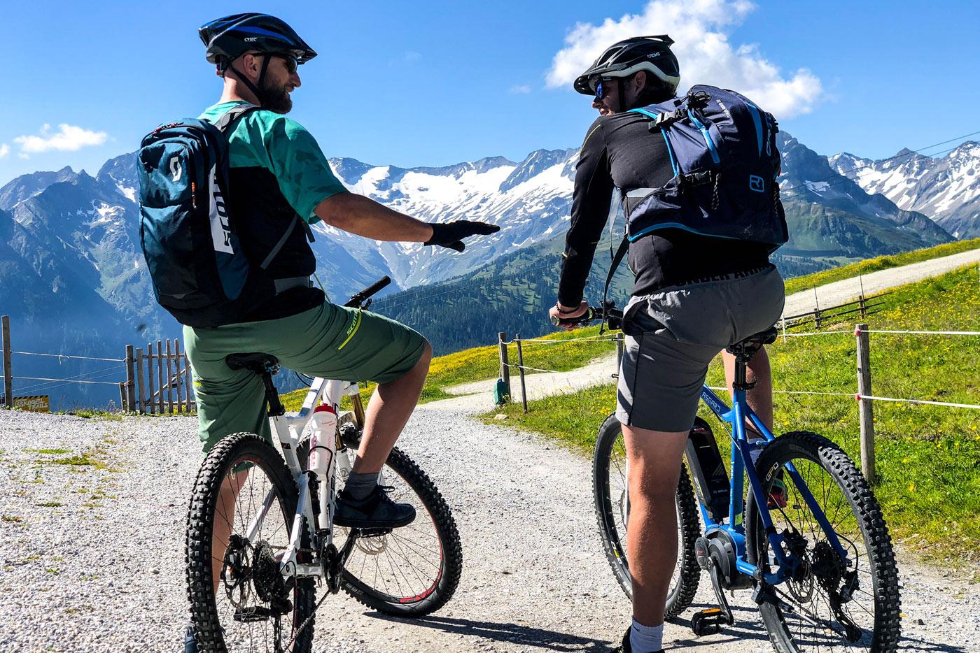 Mountainbiken Wald Königsleiten
