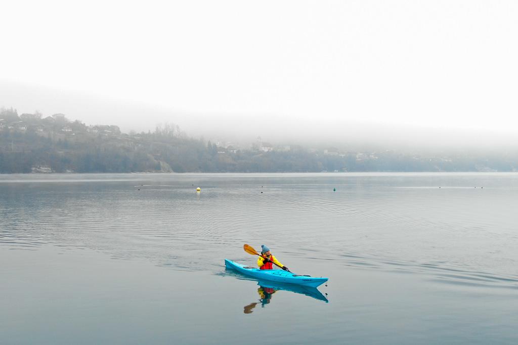 Kayak in de winter