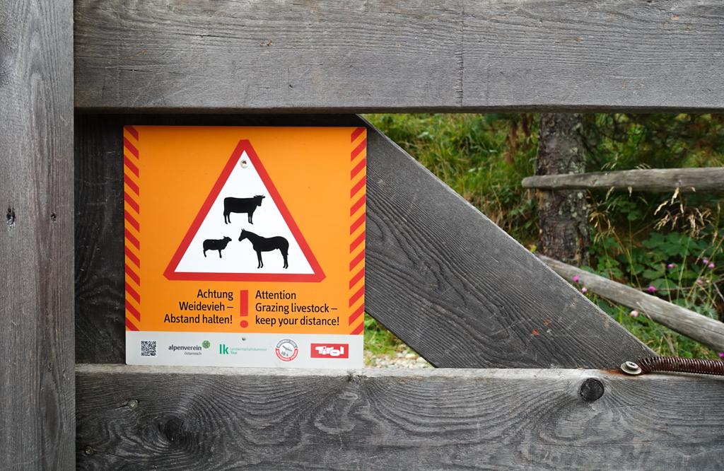 Osttirol waarschuwingshek dieren