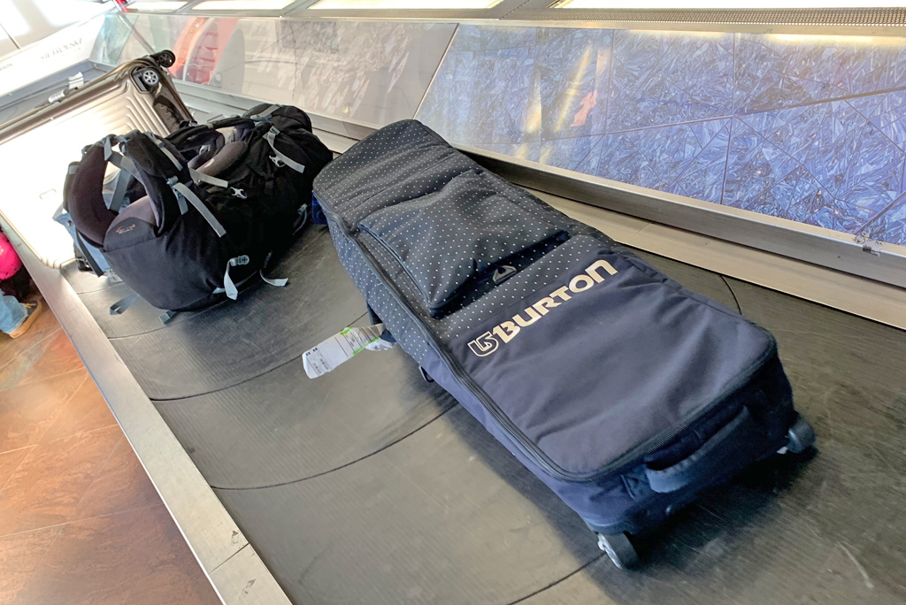 Wintersportuitrusting bagageband