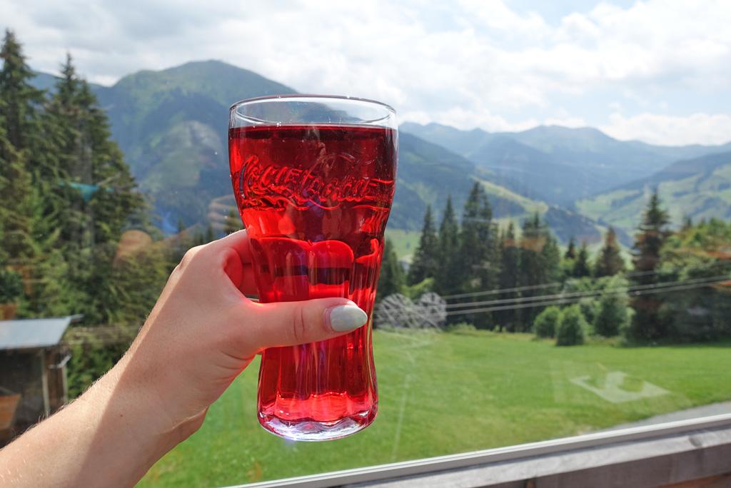 Glas Skiwasser