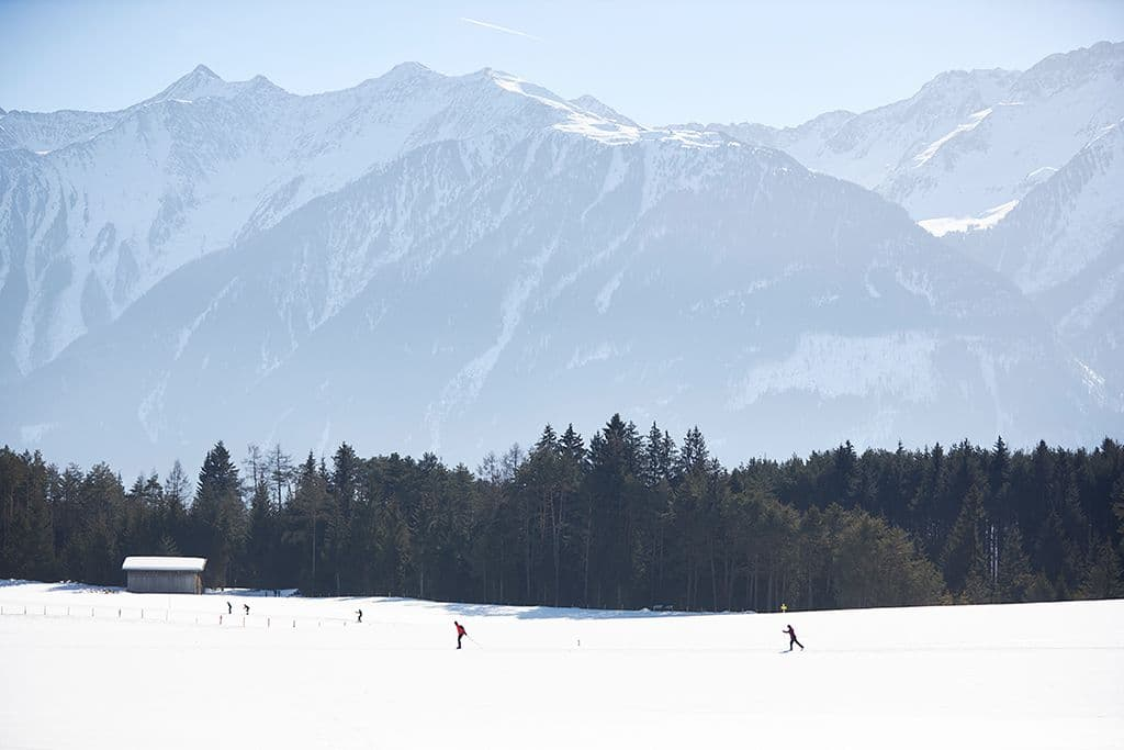 Cross-country skiing at Mieming