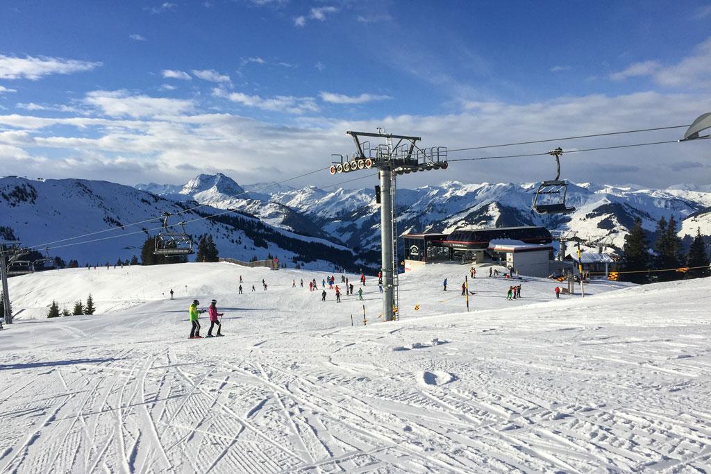 Piste in skigebied Kitzski