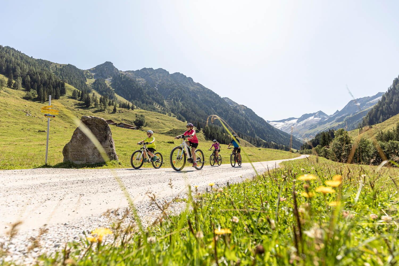 fietsen familie zell-gerlos