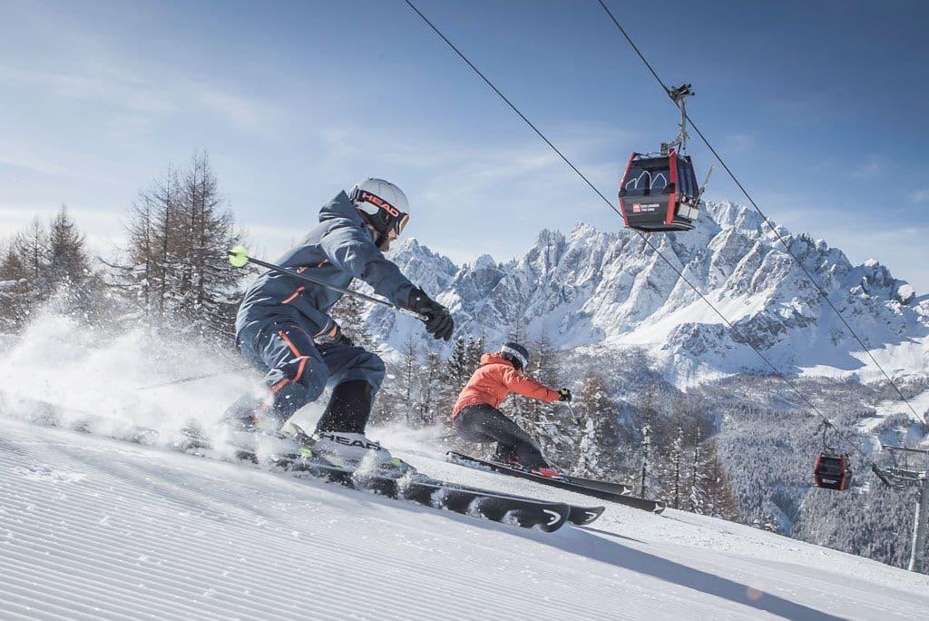 Skifahren 3 Zinnen