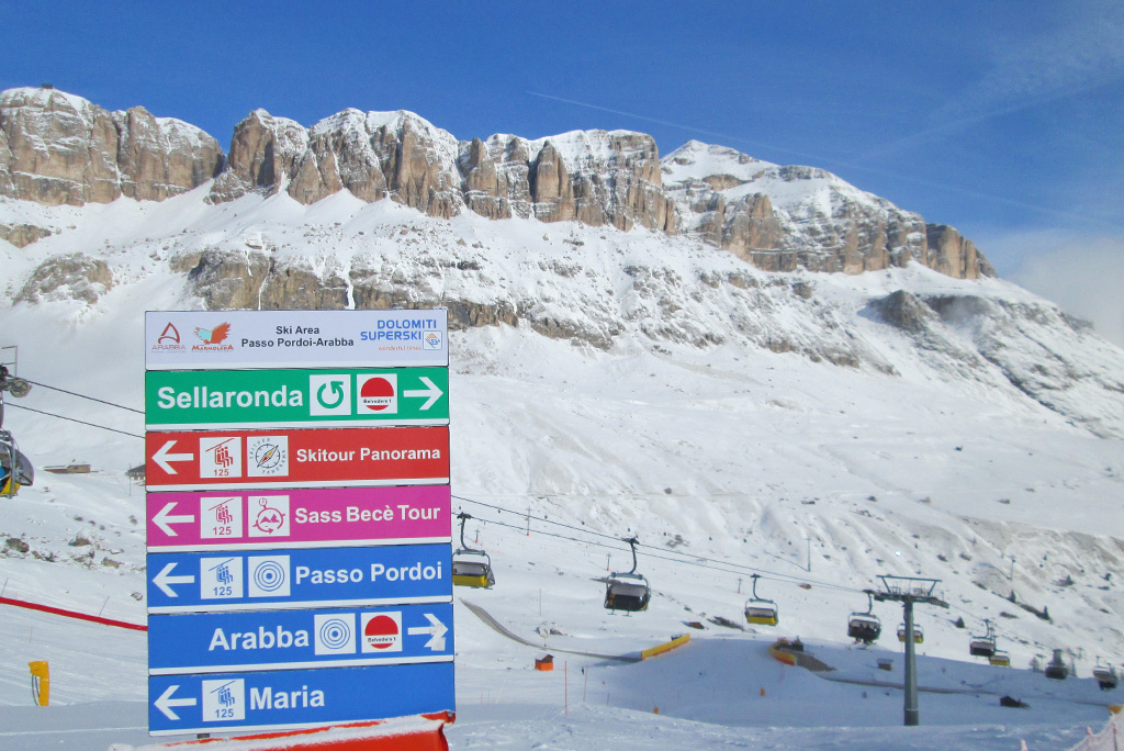 sella ronda slopes