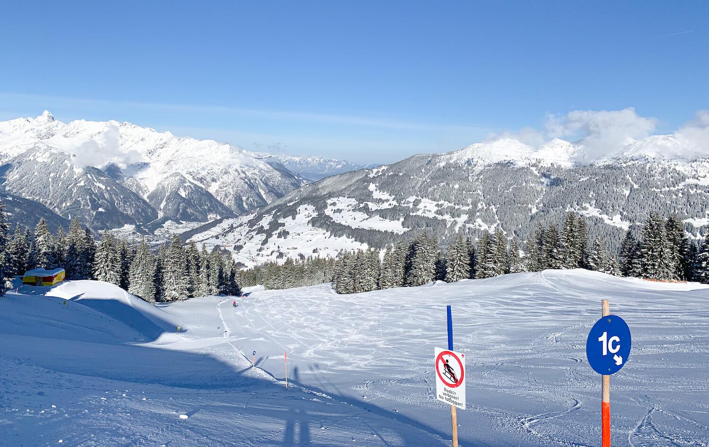 Brede blauwe pistes in Silvretta Montafon