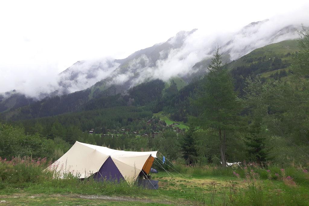 tent kamperen bergen