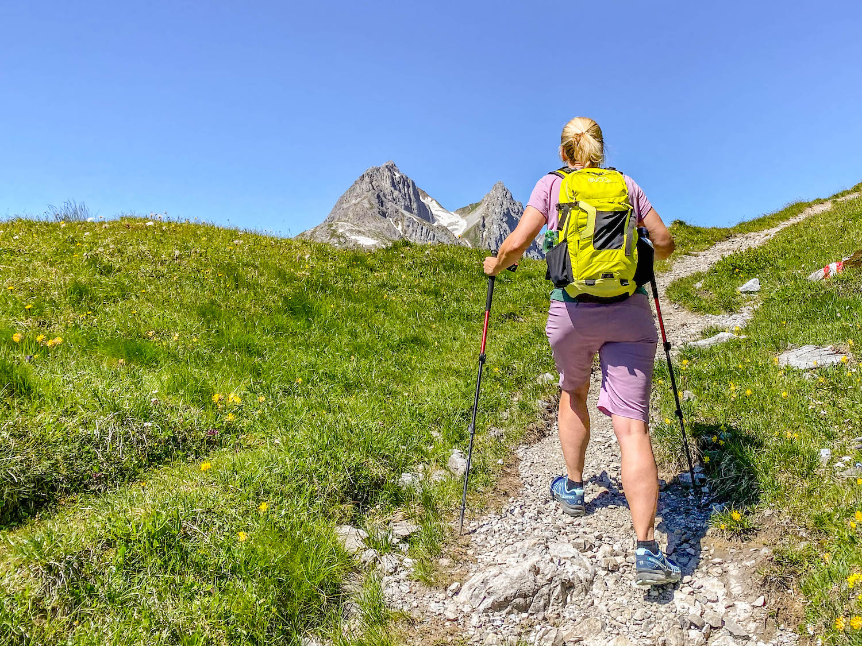 wandelstokken in de bergen
